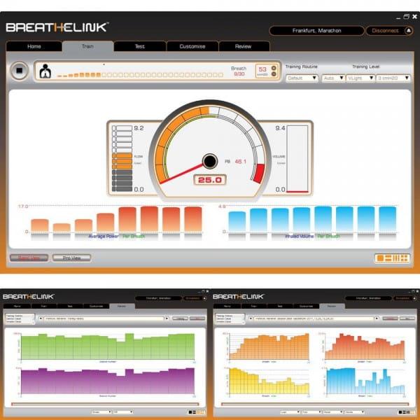 Breathelink Software für Atemanalyse