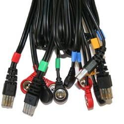 Satz mit 4 COMPEX Snap-Kabeln 8P - schwarz