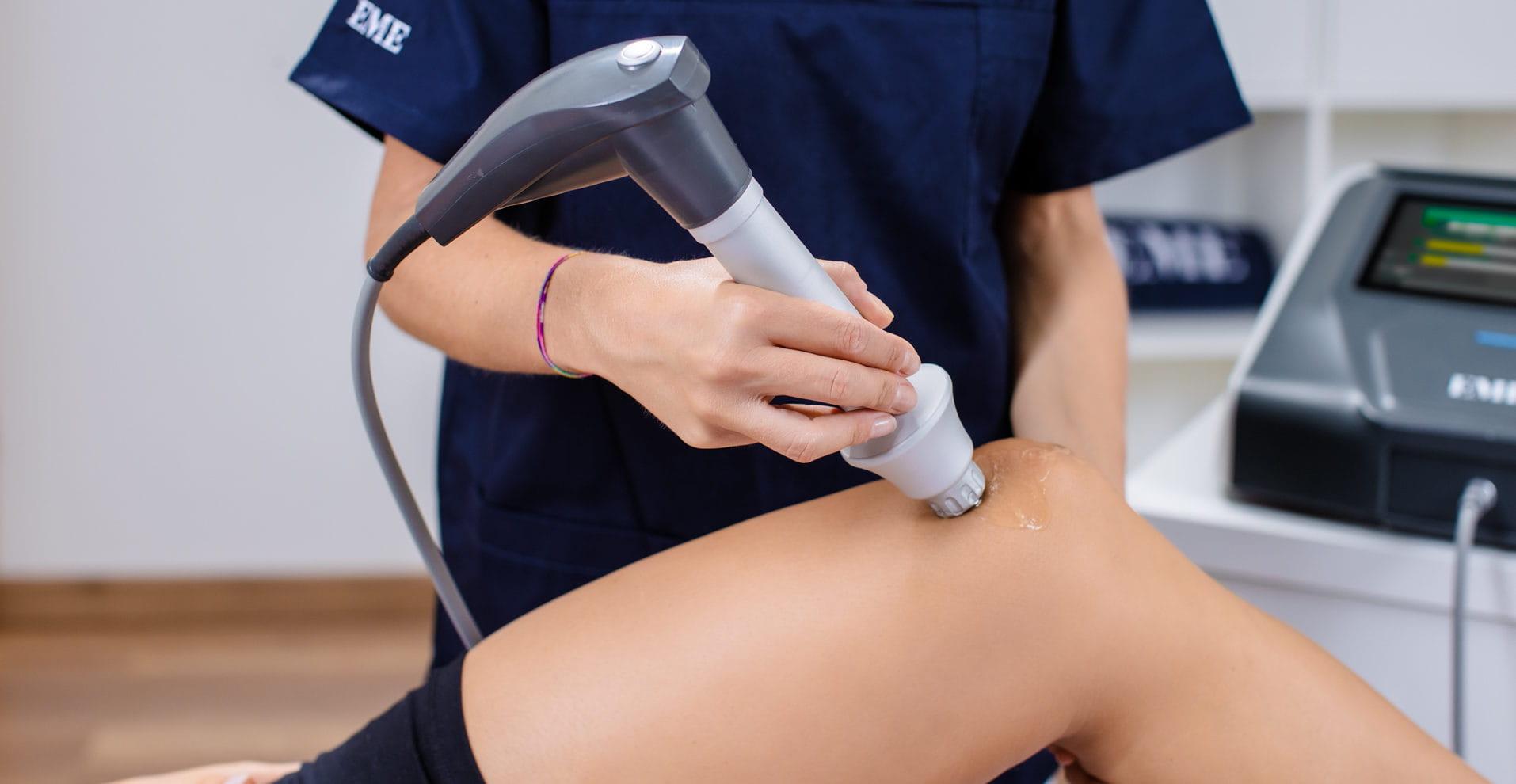 Stoßwellengerät bei Knie Tendinopathien